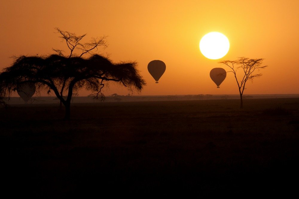 hot air balloon Kenya